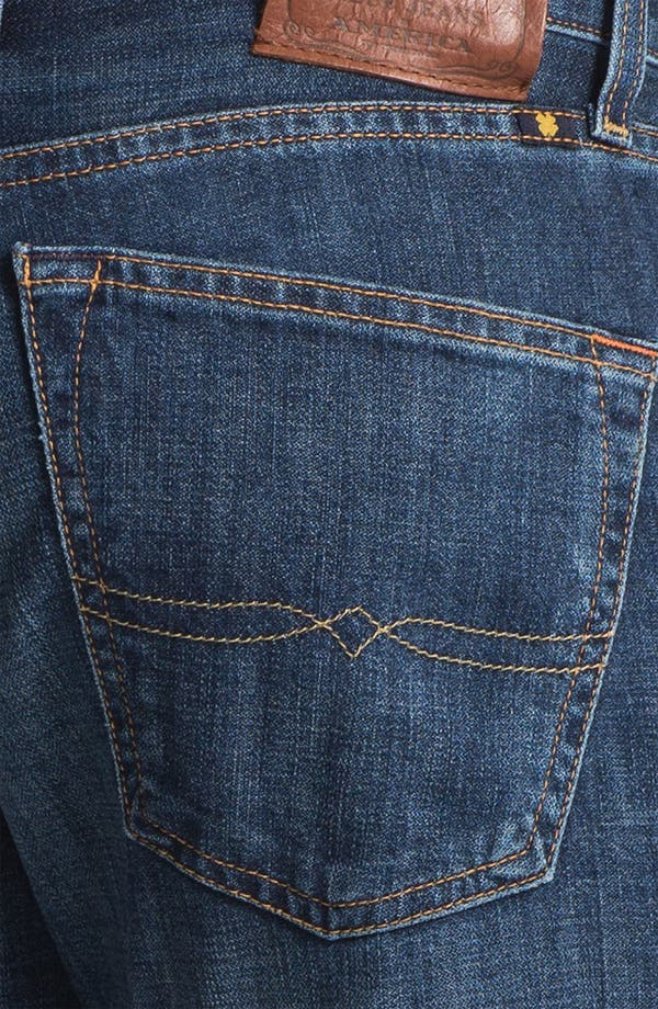 Alternate Image 4  - Lucky Brand '221 Original' Straight Leg Jeans (Medium Temescal)