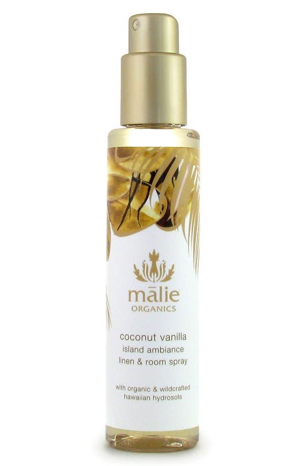 Alternate Image 1 Selected - Malie Organics Coconut Vanilla Organic Linen & Room Spray