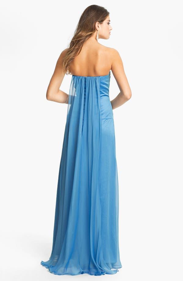 Alternate Image 2  - Faviana Jeweled Sweetheart Silk Chiffon Gown (Online Only)