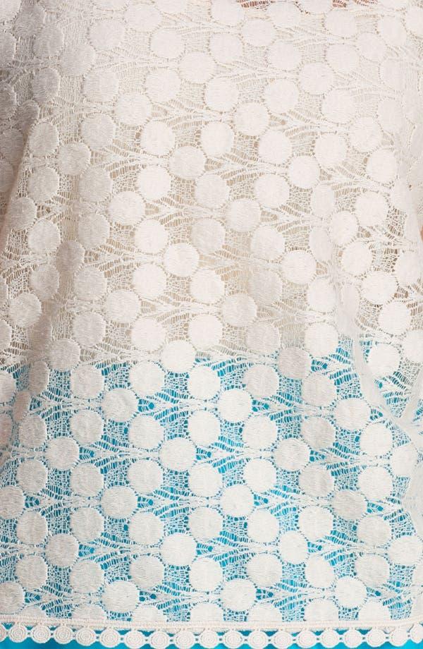 Alternate Image 3  - Kensie Dot Lace Top