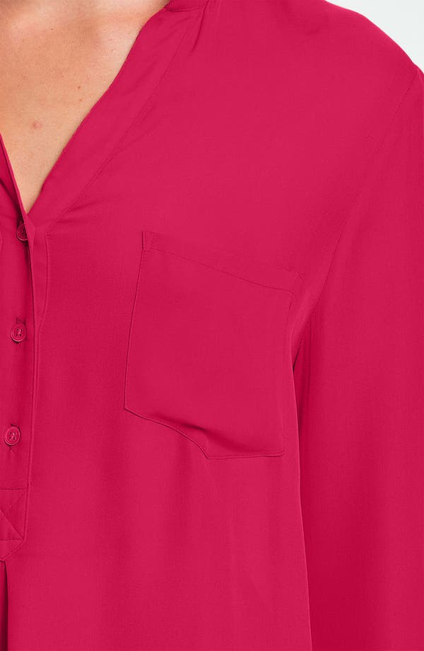 Silk Blouse,                             Alternate thumbnail 3, color,                             Freesia