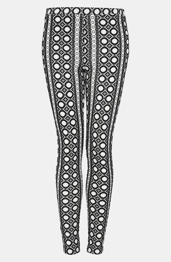 Alternate Image 1 Selected - Topshop Velvet Geo Print Leggings