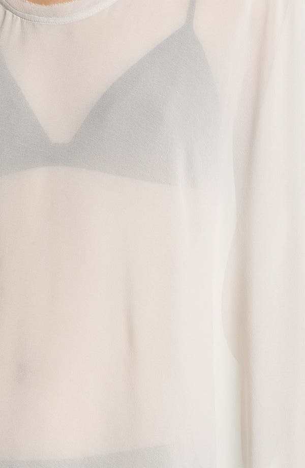 Alternate Image 4  - HELMUT Helmut Lang 'Ghost Silk' Asymmetrical Top