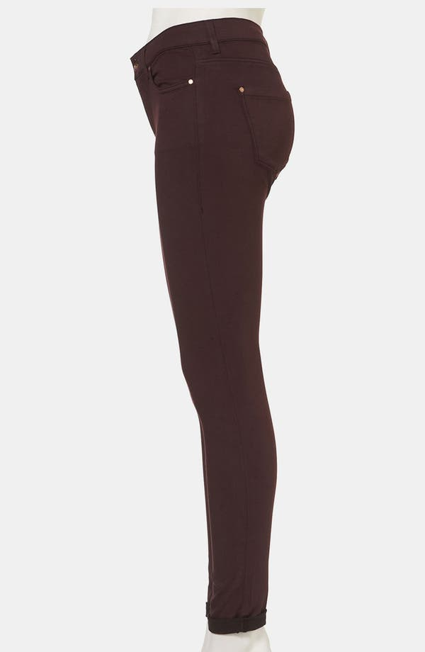 Alternate Image 4  - Topshop Moto 'Leigh' Skinny Jeans (Wine)
