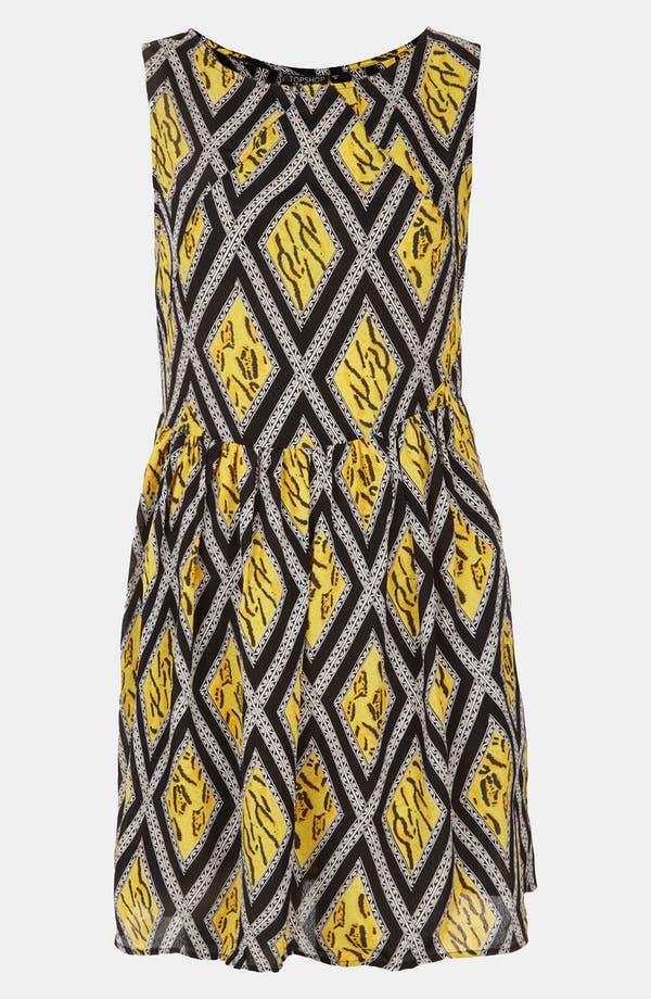 Main Image - Topshop 'Tiger Lattice Print' Skater Dress