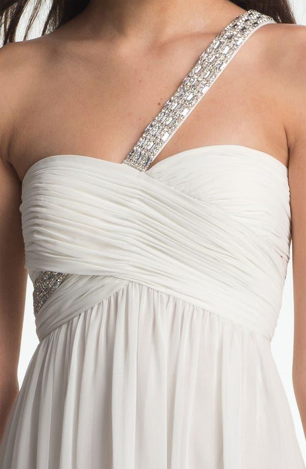 Alternate Image 3  - Calvin Klein Embellished One Shoulder Chiffon Dress
