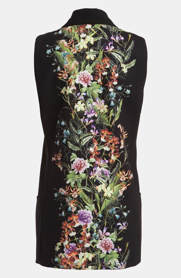 Alternate Image 2  - Mural Floral Print Tux Vest