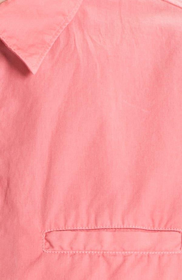 Alternate Image 3  - Edun Short Sleeve Woven Pullover Shirt