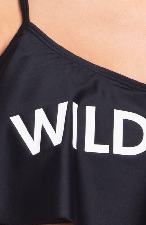 Alternate Image 5  - Wildfox Logo Ruffle Bikini Top