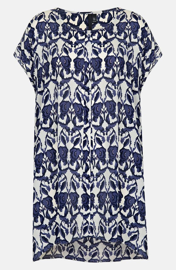 Alternate Image 1 Selected - Topshop Floral Print Silk Tunic