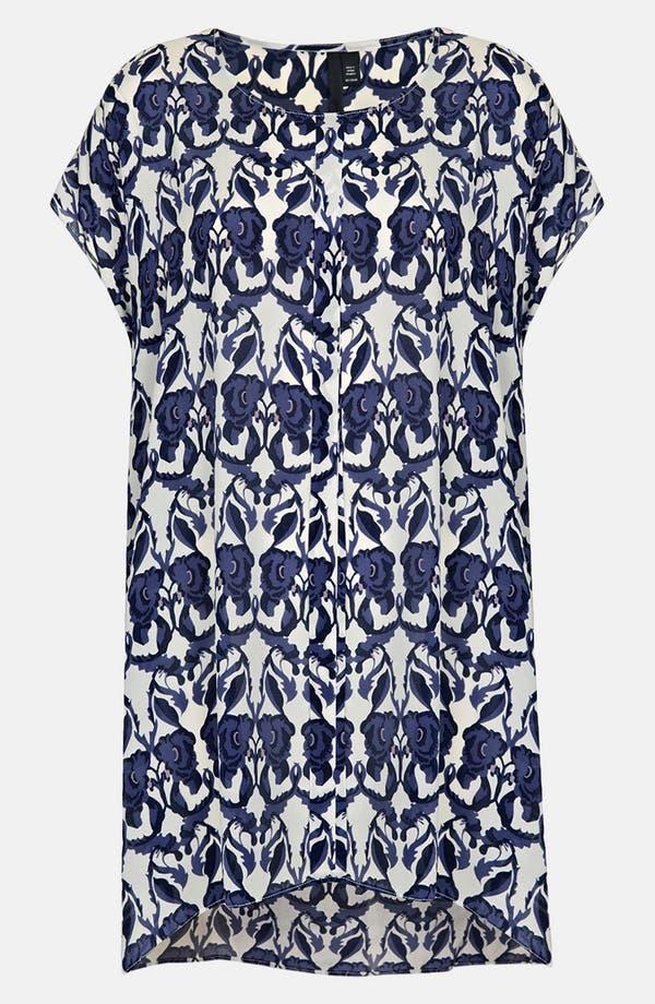 Main Image - Topshop Floral Print Silk Tunic