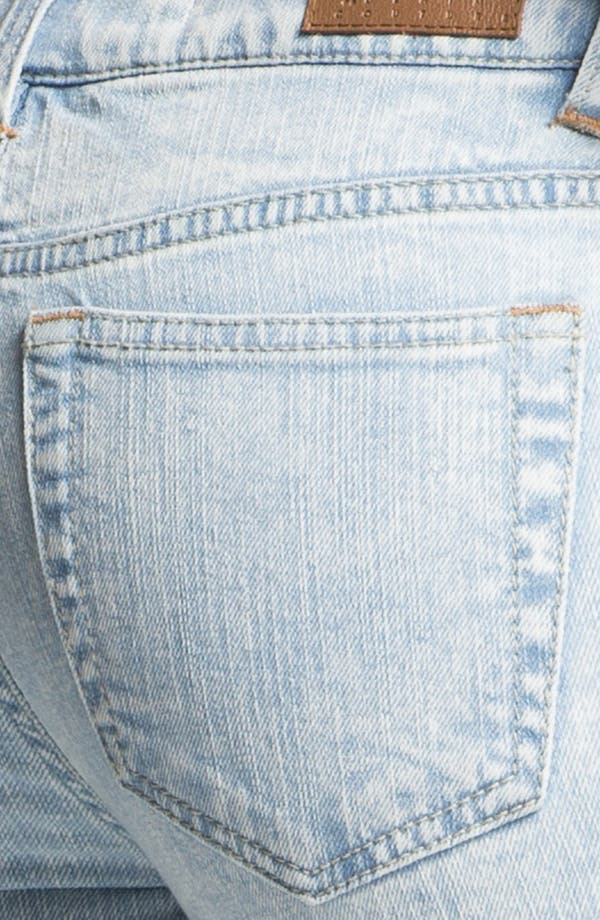 Alternate Image 3  - Fire Zip Cuff Skinny Ankle Jeans (Acid) (Juniors)