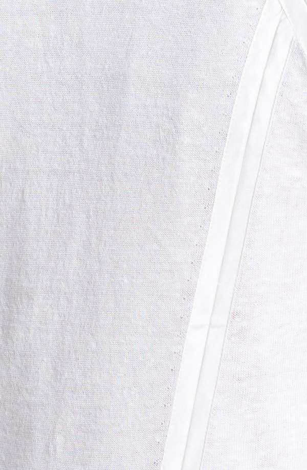 Alternate Image 3  - Lafayette 148 New York 'Breezy' Linen Blend Crop Cardigan