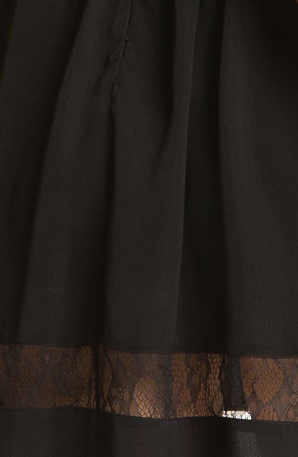 Alternate Image 3  - En Crème Lace Illusion Skater Dress (Juniors)