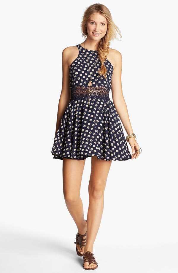 Main Image - Lucca Couture Floral Skater Dress