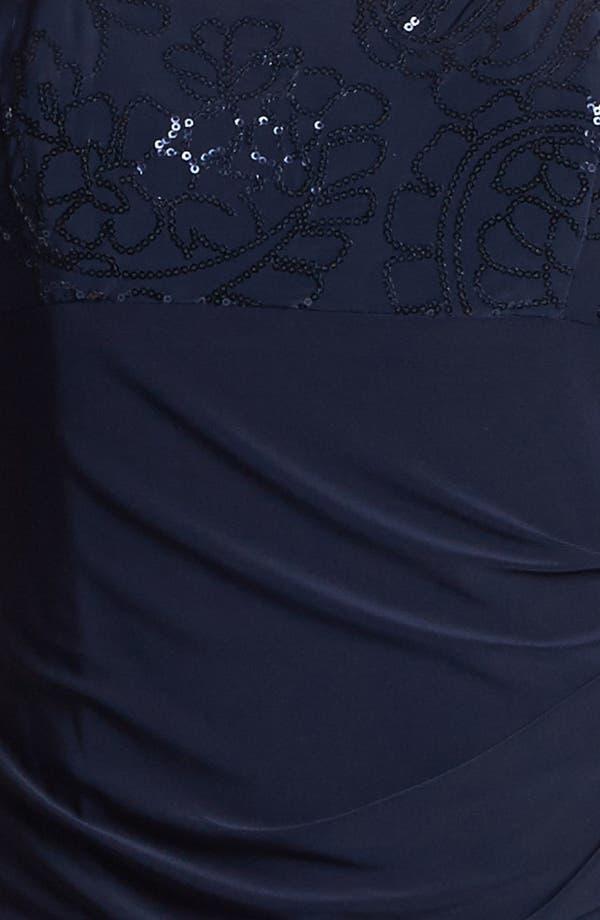 Alternate Image 4  - Alex Evenings Sequin Trim Dress & Bolero (Petite)