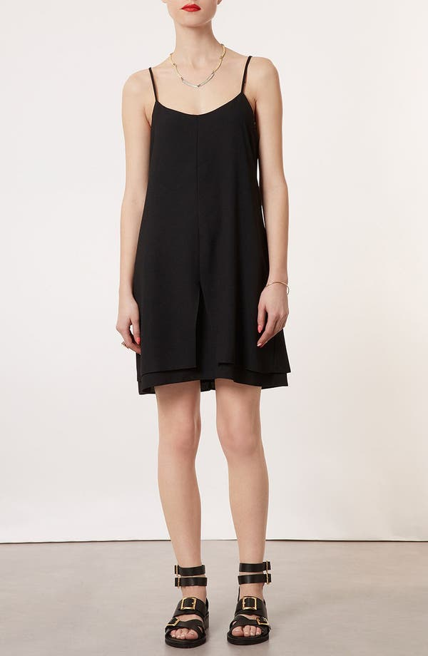 Main Image - Topshop Strap Back Crepe Dress