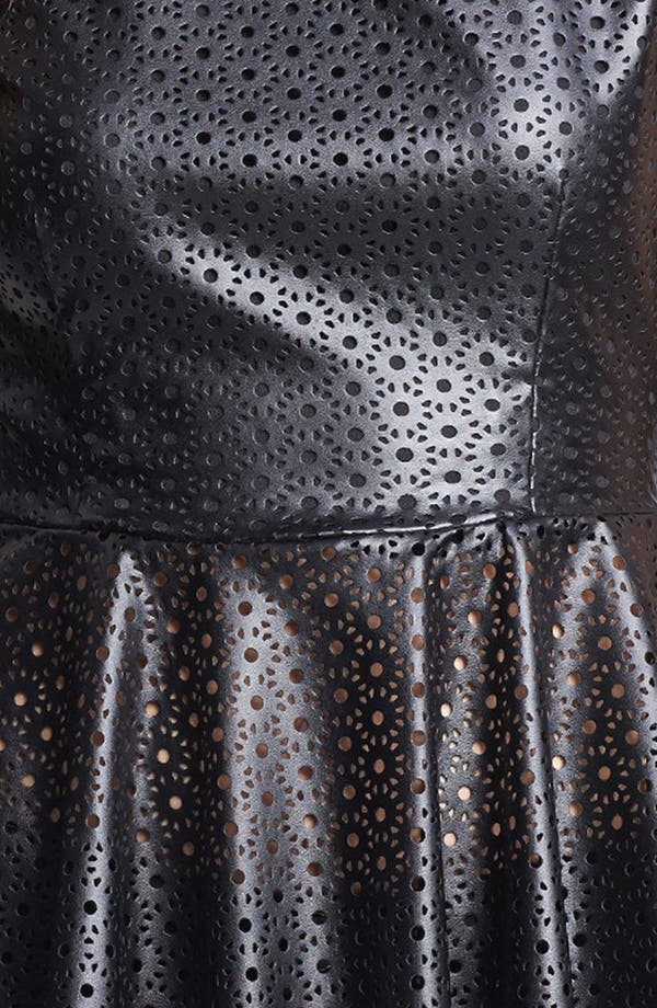 Alternate Image 3  - Mimi Chica Faux Leather Peplum Top (Juniors)