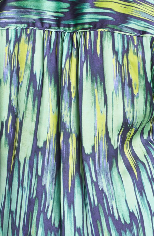 Alternate Image 3  - Sejour Print Satin Top (Plus Size)