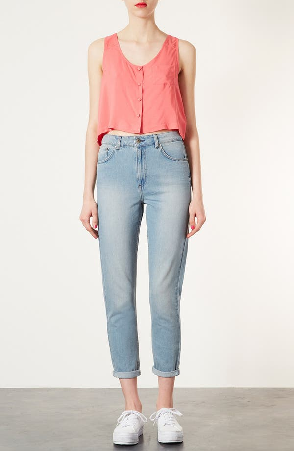 Alternate Image 4  - Topshop Moto 'Kiri' Acid Wash Jeans