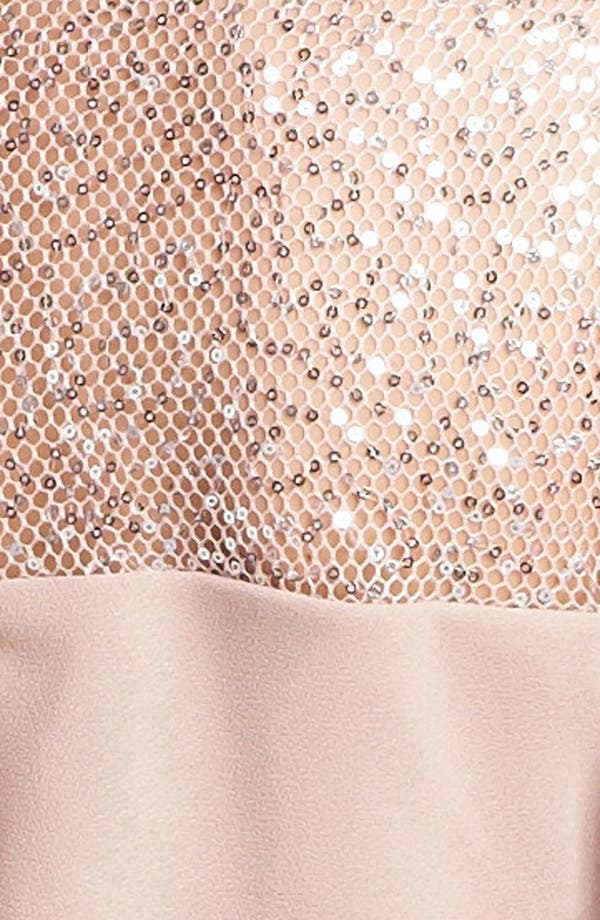 Alternate Image 4  - Alex Evenings Embellished Yoke Tiered Dress (Petite)