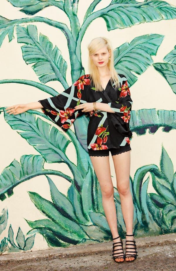 Alternate Image 1 Selected - Like Mynded Kimono & Tildon Lace Shorts