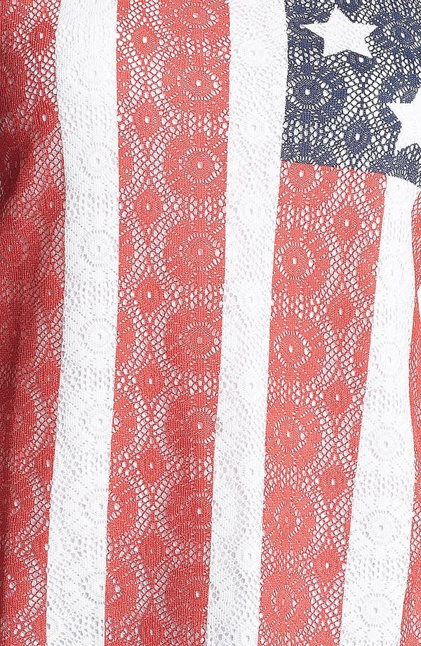 Alternate Image 3  - Lucky Brand Lace Flag Tank (Plus)