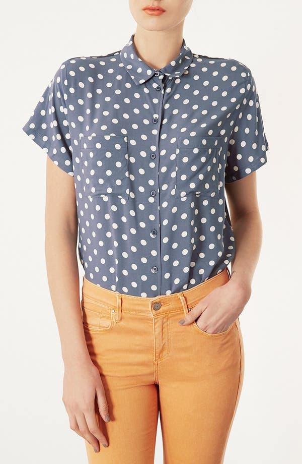 Main Image - Topshop Polka Dot Shirt