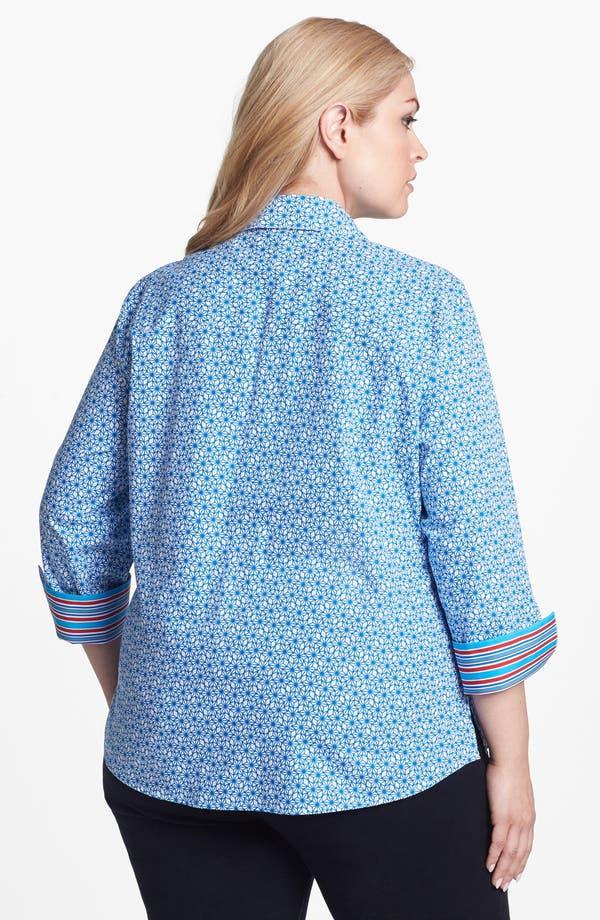 Alternate Image 2  - Foxcroft 'Stars & Stripes' Shaped Shirt (Plus Size)