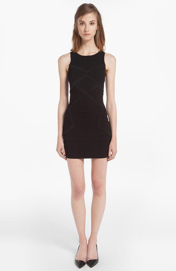 Main Image - maje 'Denier' Mesh Panel Body-Con Dress