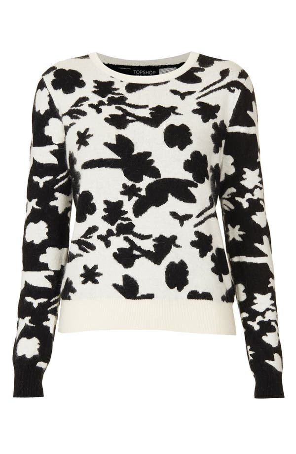 Alternate Image 3  - Topshop Floral Sweater