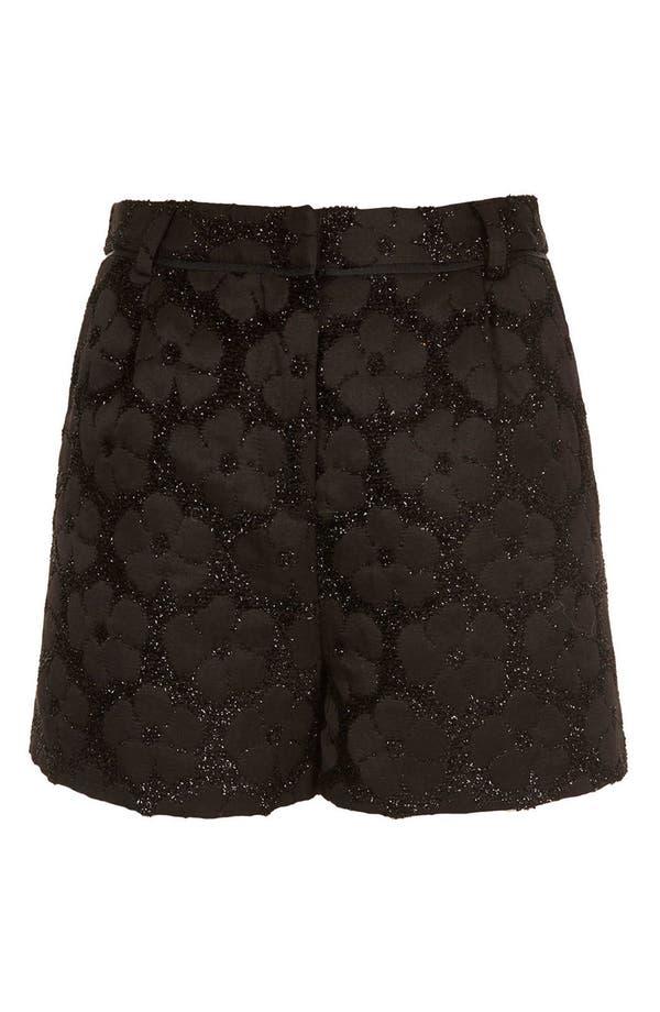 Alternate Image 3  - Topshop Textured Floral Shorts