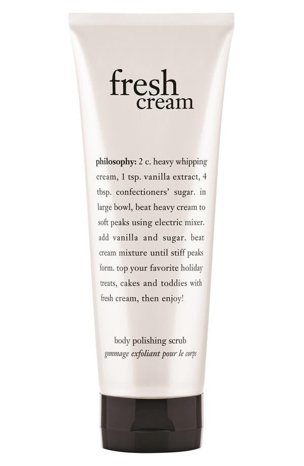 Main Image - philosophy 'fresh cream' body polishing scrub