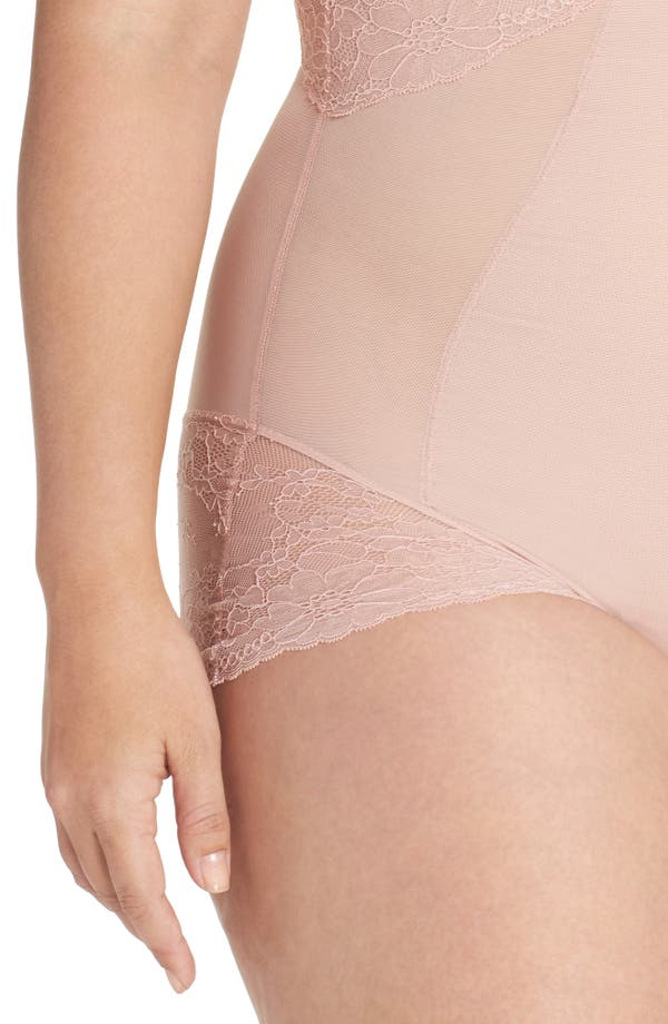 Alternate Image 4  - SPANX® Spotlight On Lace Bodysuit (Plus Size)