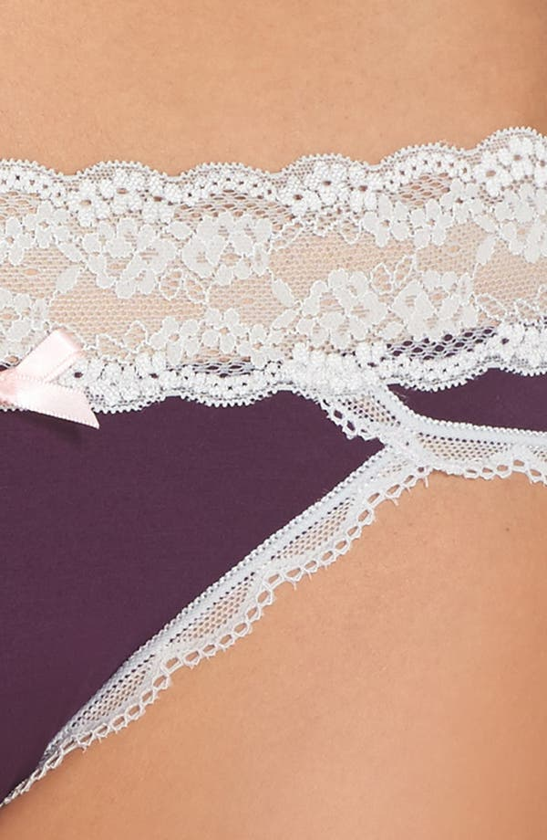 Alternate Image 5  - Honeydew Intimates Lace Waistband Hipster Panties (3 for $33)