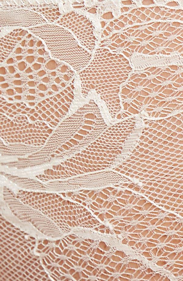 Black Rose Lace Thong,                             Alternate thumbnail 9, color,                             Ivory/ Bridal