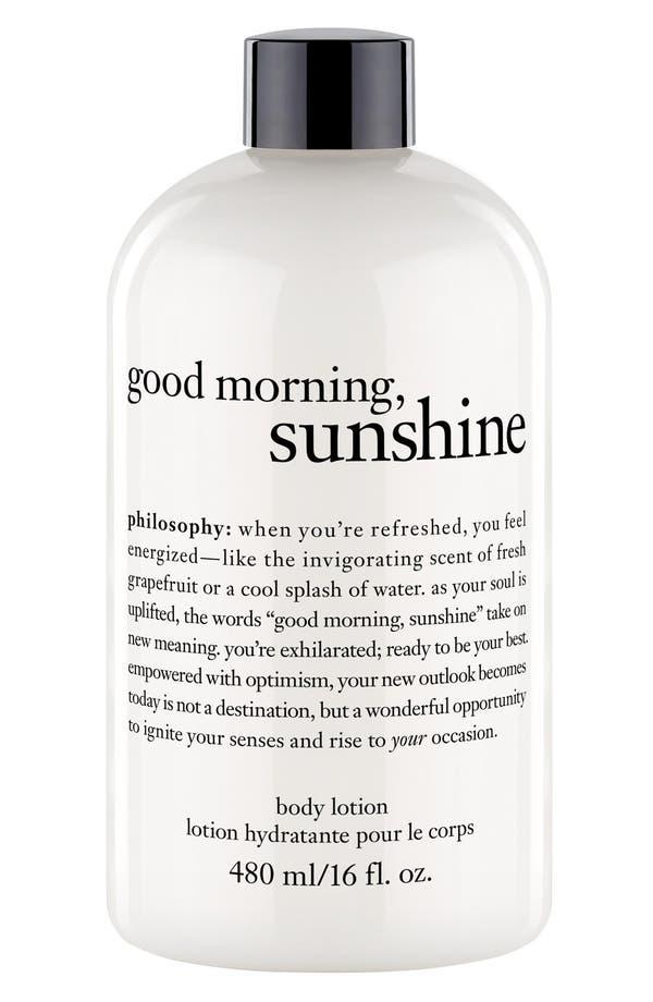 Alternate Image 1 Selected - philosophy 'good morning sunshine' body lotion (Limited Edition)