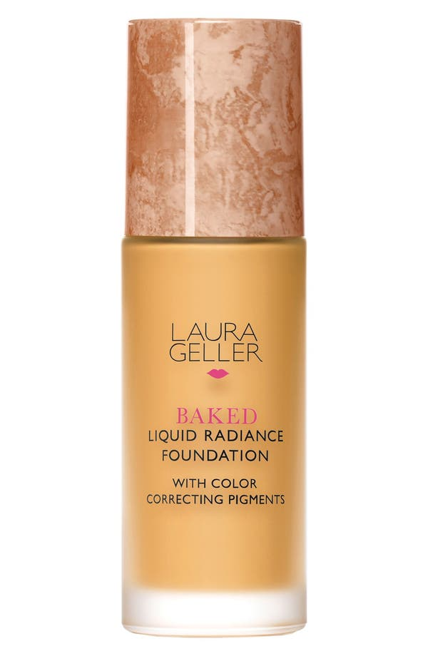 'Baked' Liquid Radiance Foundation,                             Main thumbnail 1, color,                             Sand
