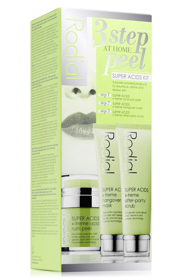 SPACE.NK.apothecary Rodial SUPER ACIDS 3-Step Peel Kit,                         Main,                         color, No Color