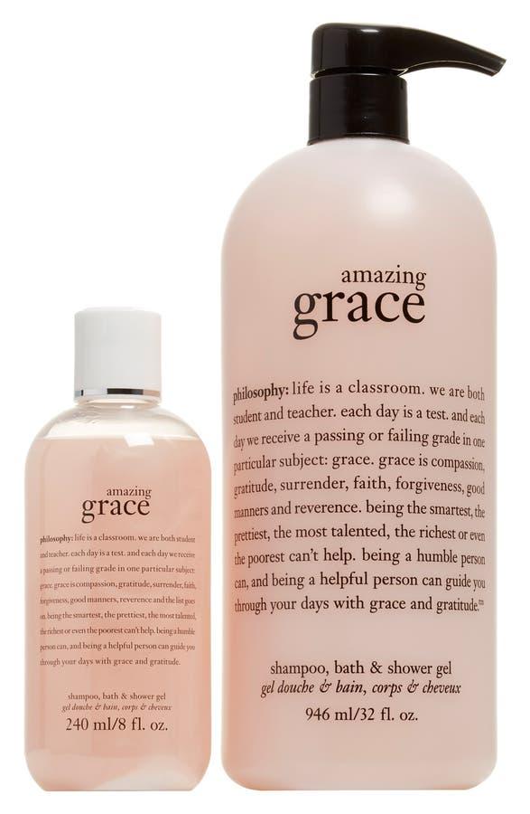 Philsophy Amazing Grace Shampoo Shower Gel Bubble Bath Duo