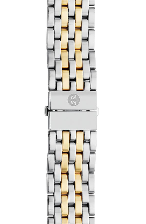 Alternate Image 1 Selected - MICHELE 'CSX-36' 18mm Two-Tone Bracelet Watchband