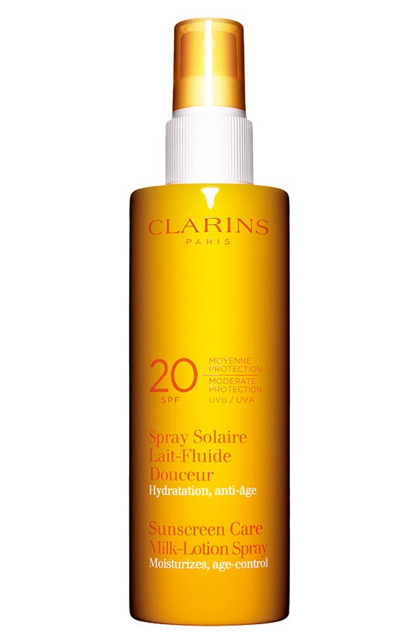 Alternate Image 1 Selected - Clarins Sunscreen Care Milk-Lotion Spray SPF 20