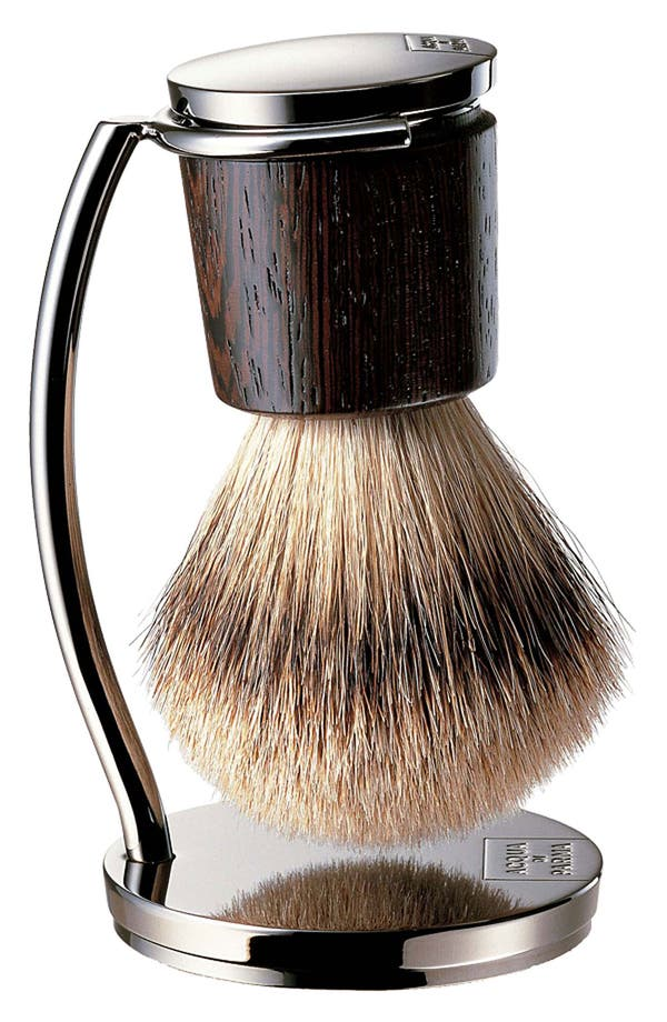 Pure Badger Shaving Brush with Stand,                         Main,                         color,