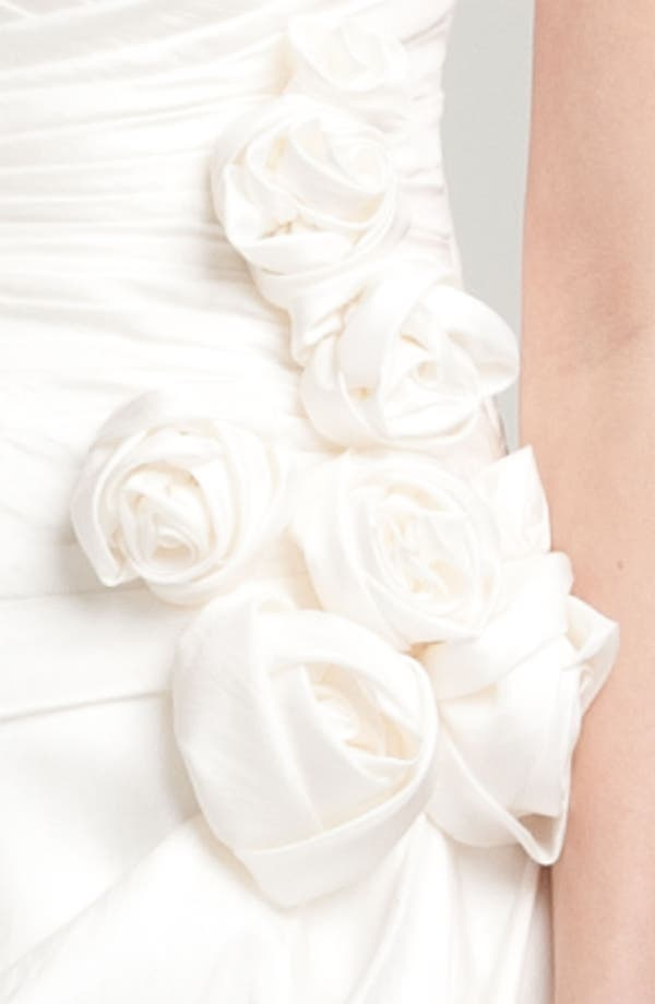 Alternate Image 4  - Faviana Ruched Taffeta Strapless Gown