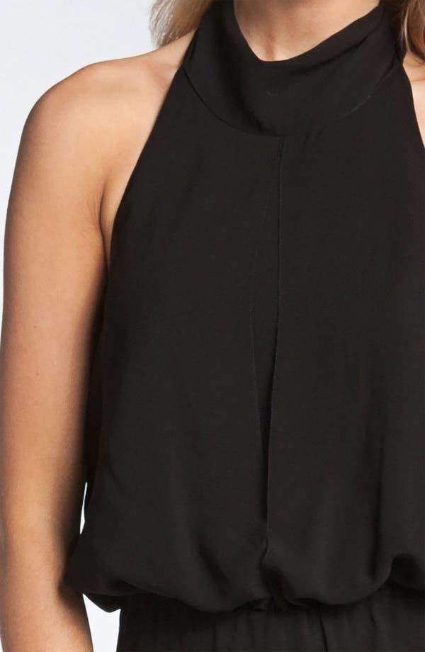 Alternate Image 3  - Nicole Miller Silk Halter Jumpsuit