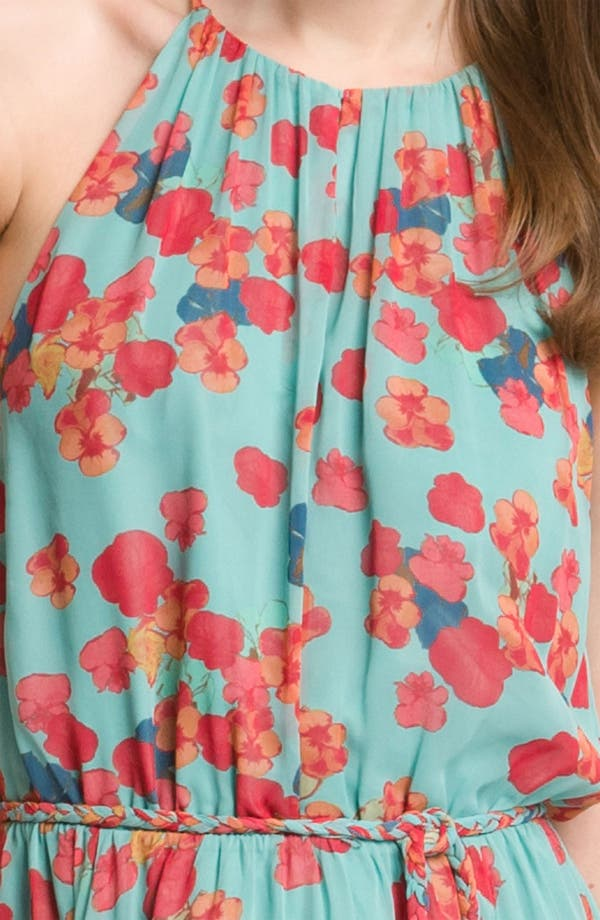 Alternate Image 3  - Jessica Simpson Handkerchief Hem Chiffon Halter Dress