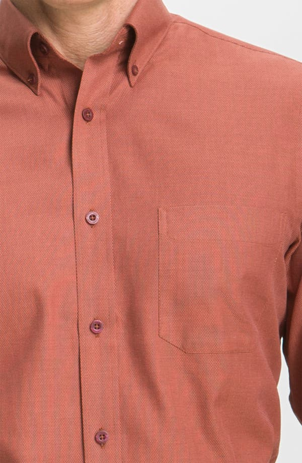Alternate Image 3  - Nordstrom Smartcare™ Cotton Dobby Sport Shirt
