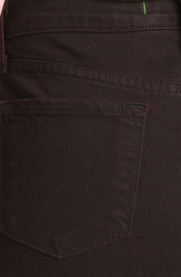Alternate Image 3  - J Brand 'Sasha' High Rise Skinny Jeans (Noir Red)