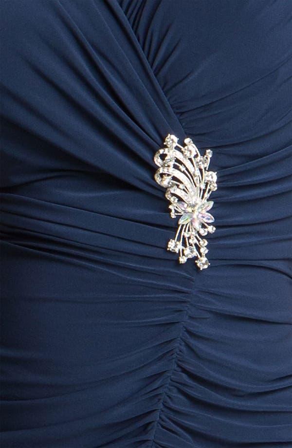 Alternate Image 3  - Alex Evenings Jeweled Ruched Jersey Dress (Plus)