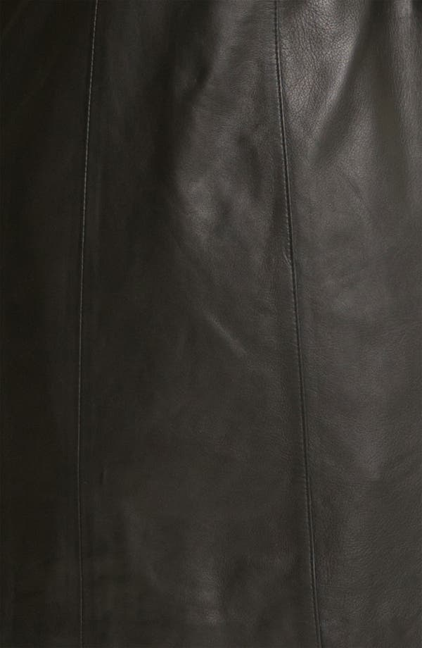 Alternate Image 3  - Cole Haan Leather Walking Coat with Liner